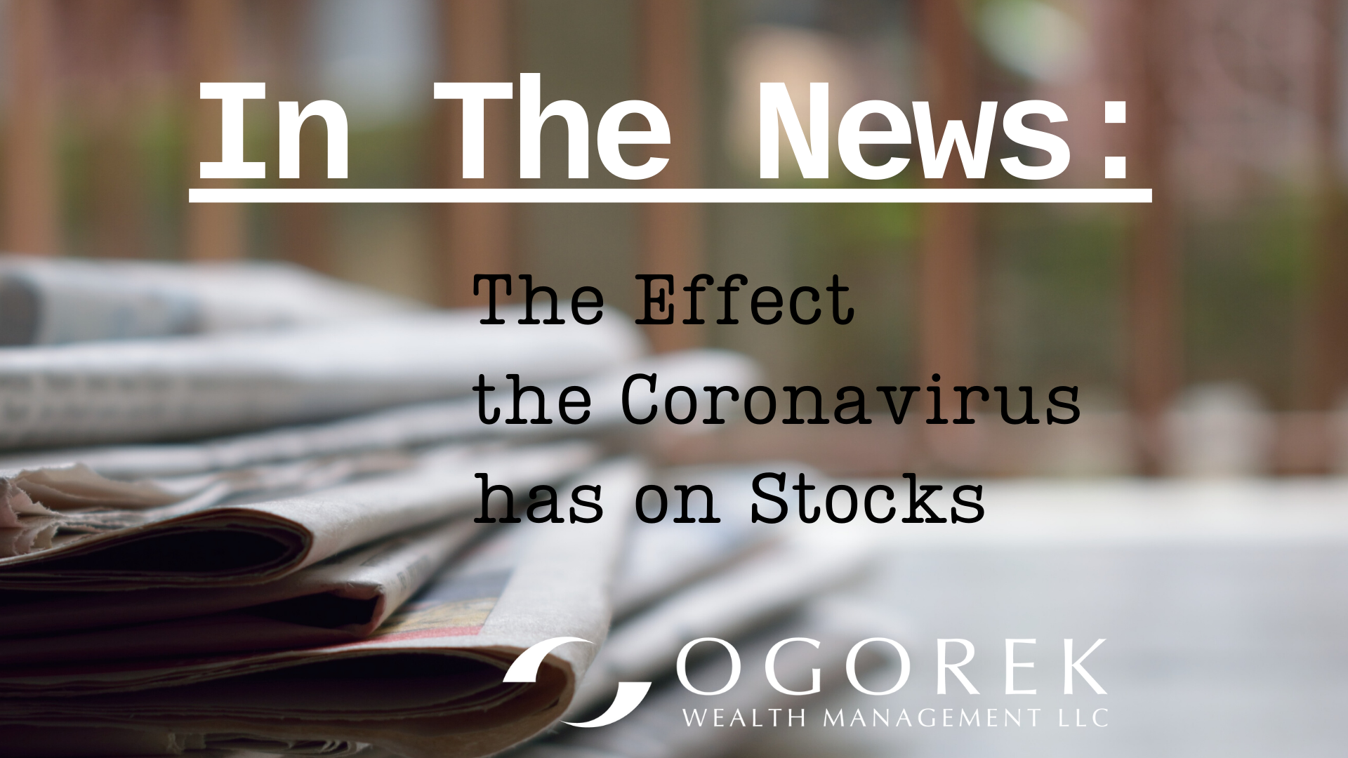 Stocks Tumble On Coronavirus Fears
